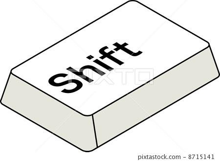 Keyboard shift key 8715141