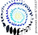 Birds in spiral 8715637