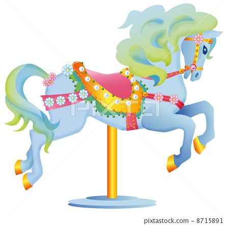 Merry-go-round horses 8715891