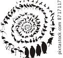 Birds Waterfowl in spiral 8717117