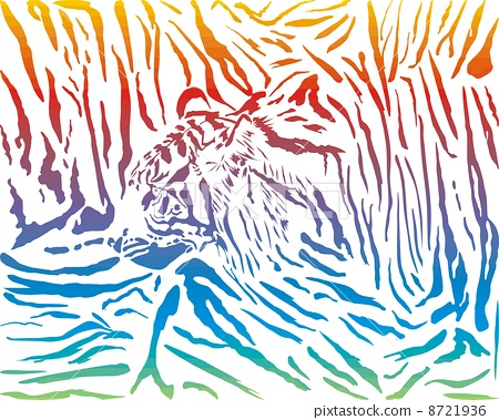 Tiger abstract pattern background 8721936