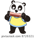 Cartoon Panda Playing a Harmonica 8726321