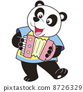 Cartoon Panda Playing an Accordion 8726329