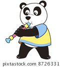 Cartoon Panda Playing an Oboe 8726331