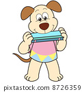 Cartoon Dog Playing a Harmonica 8726359