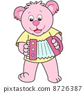 Cartoon Bear Playing an Accordion 8726387