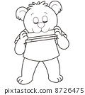 Cartoon Bear Playing a Harmonica 8726475