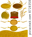 wheat, barley, vector 8728358