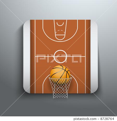 Vector Illustration Basketball icons 8728764