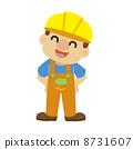 Vector illustration of a builder in yellow helmet 8731607