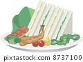 sandwich, sandwiches, illustration 8737109