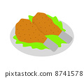fried chicken, cut-out, chicken 8741578