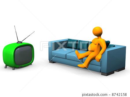 Watching TV 8742158