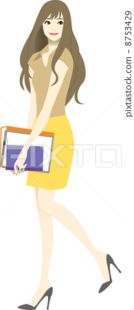 Women moving in the office (spring and summer) 8753429