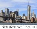 NY 이스트 리버에서의 경치 뉴욕 미국 8774003