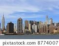 NY 이스트 리버에서의 경치 뉴욕 미국 8774007