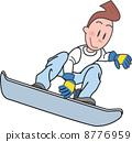 snowboard, snowboarding, snowboarder 8776959