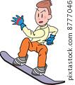 snowboard, snowboarding, snowboarder 8777046