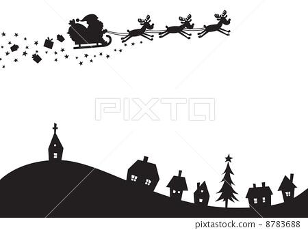 聖誕風景剪影 8783688