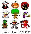 Halloween character  cartoon. 8791797
