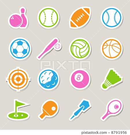 Stock Illustration: Sports Icons set.