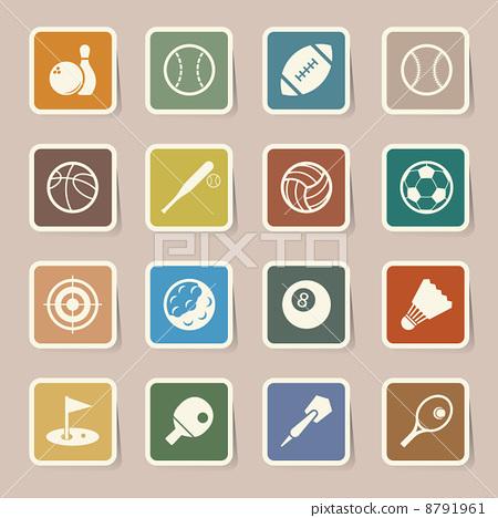 Stock Illustration: Sports Icons set.
