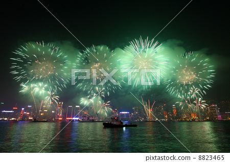 Fireworks in Hong Kong along Chinese New Year 2011