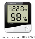 digital thermometer hygrometer humidity icon 8829763