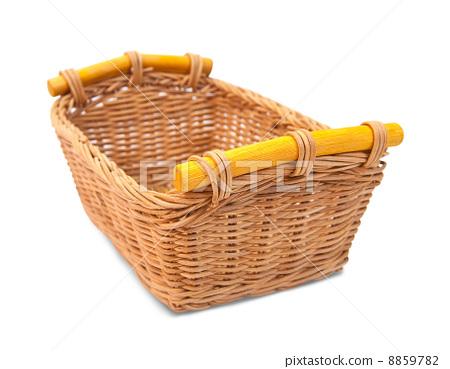 Empty wicker basket 8859782