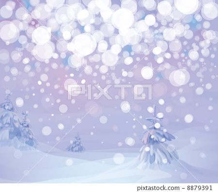 Vector of winter landscape.  8879391