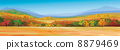 Vector of autumnal landscape.  8879469