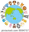 動物 ペット 地球 地球儀 8884707