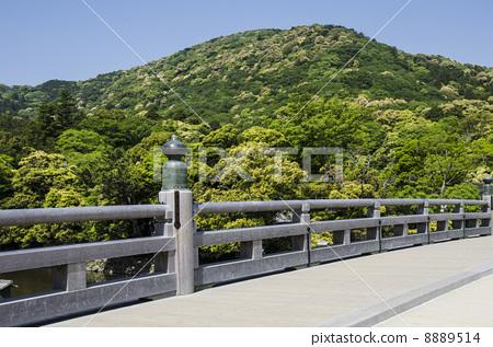 Spring Ujibashi Ise Shrine inner shrine 8889514