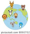世界の動物 8890702