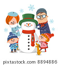 snowmen, parent and child, snowman 8894886