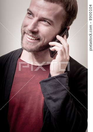 포즈를 취하다, 미소, 스마일 8900104