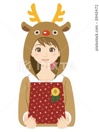 여성 (크리스마스 의상) 8948472