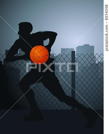 Basketball player 8954098