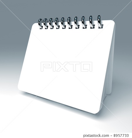 white 3d notepad 8957733