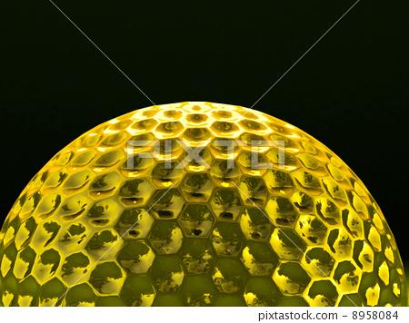 gold golf ball 8958084
