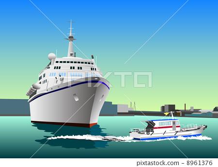 여객선 및 파일럿 보트 8961376