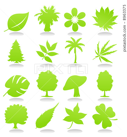 Icons of plant 8963375