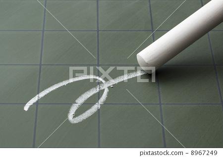 A white line drawn on a blackboard 8967249