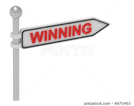 WINNING arrow sign with letters 8970463