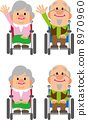 Elderly couple (wheel chair) 8970960