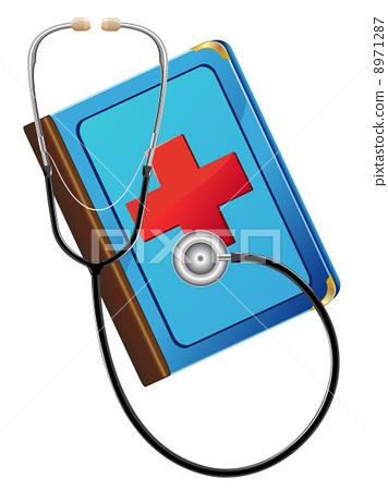 medical book and stetoskop 8971287