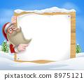 Santa Christmas Banner 8975121