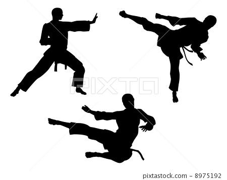 Karate Martial Art Silhouettes 8975192