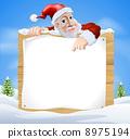 Santa Claus Sign Winter scene 8975194