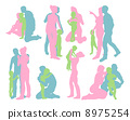 Happy family detailed silhouettes 8975254